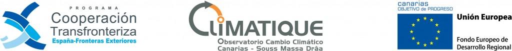 Barra de logos POCTEFEX - CLIMATIQUE - FEDER